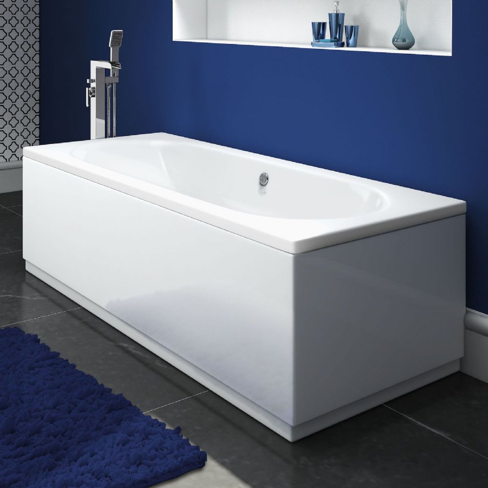 AquaSoak 1700 x 700 Double Ended Straight Bath ( round )
